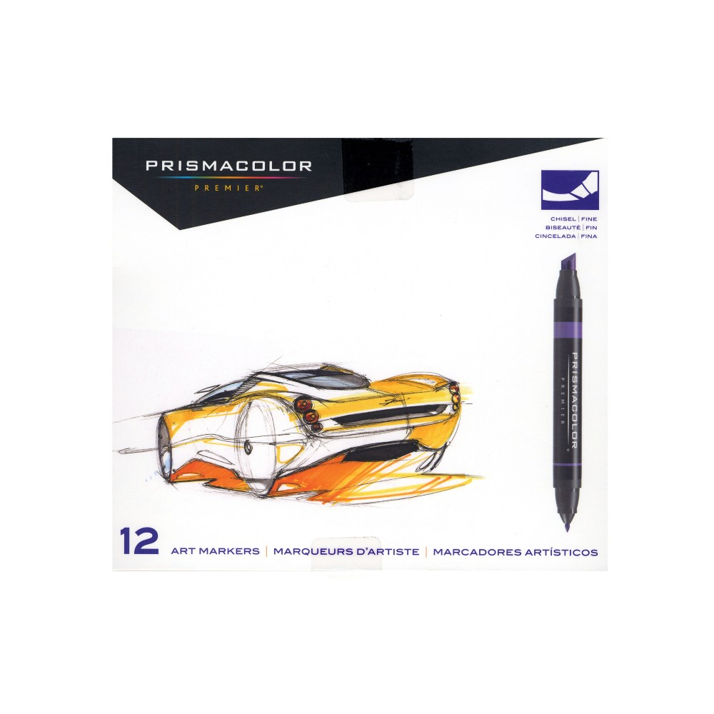 Image of Art Markers Primary and Secondary Colors 12ct - Prismacolor