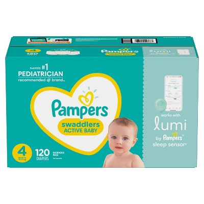 Lumi by Pampers Diapers Enormous Pack - Size 4 - 120ct
