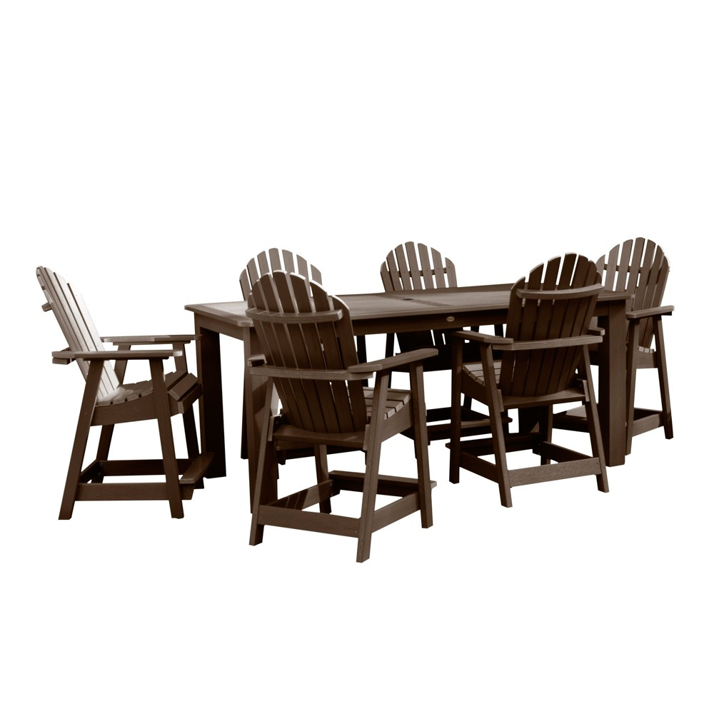 "Image of ""Hamilton 7pc Rectangular Counter Height Dining Set 84"""" X 42"""" Weathered Acorn - Highwood"""