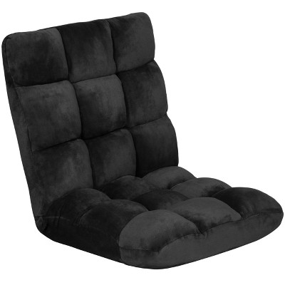 Best Choice Products 14-Position Folding Adjustable Memory Foam Cushioned Padded Gaming Floor Sofa Chair - Black
