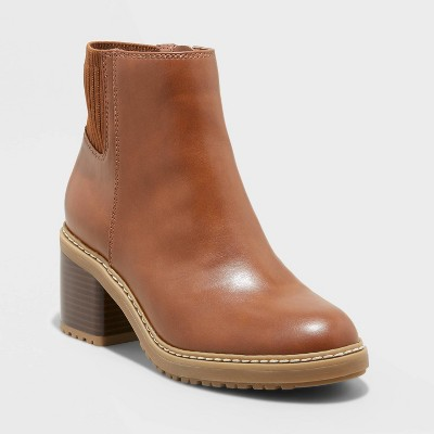 Women's Nancy Water Repellant Knit Collar Boots - A New Day™