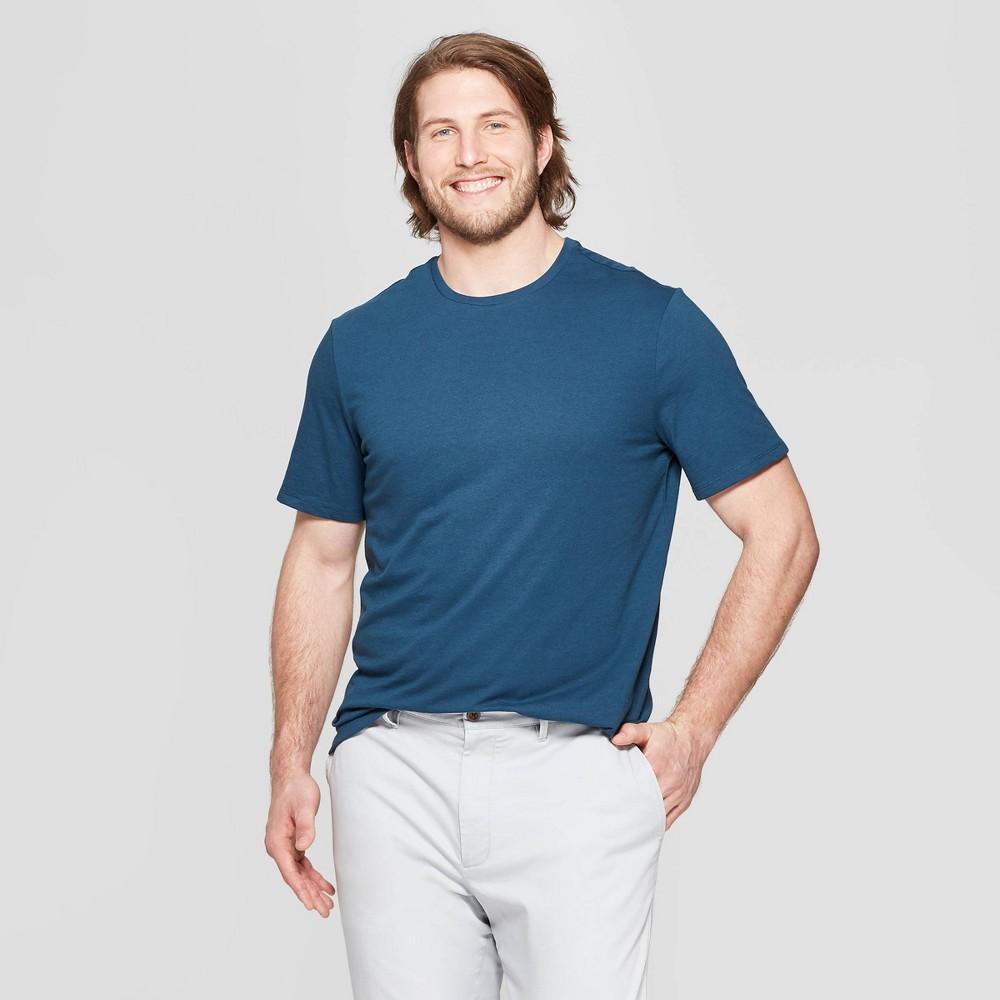 Men's Big & Tall Standard Fit Short Sleeve Lyndale Crew T-Shirt - Goodfellow & Co Thunderbolt Blue 5XB