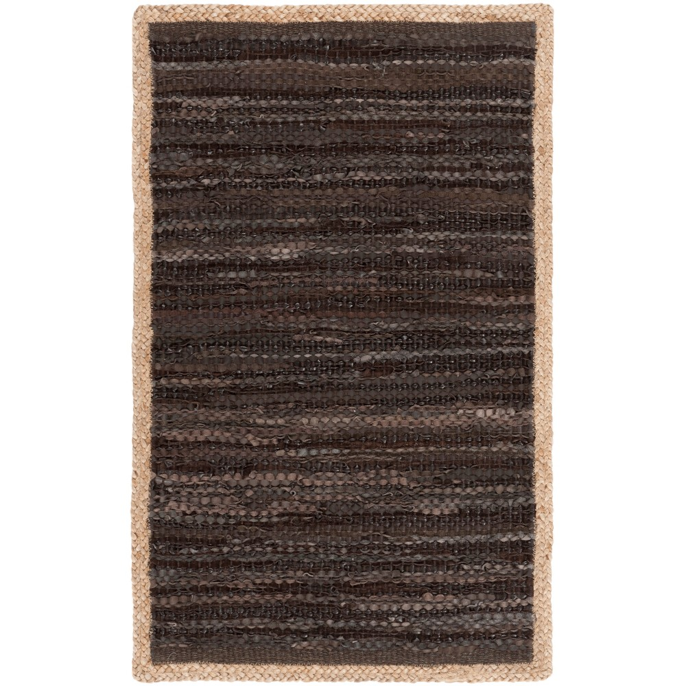 8'X10' Solid Woven Area Rug Chocolate/Natural (Brown/Natural) - Safavieh