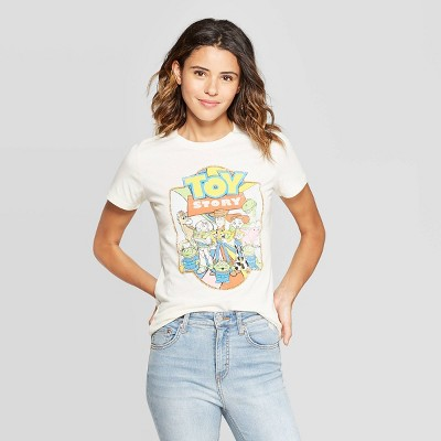 Women's Disney Vintage Toy Story Short Sleeve T Shirt (Juniors')   Ivory by Shirt (Juniors')
