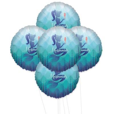 Birthday Express Mermaids Under The Sea Foil Balloon Kit - 5 Pack