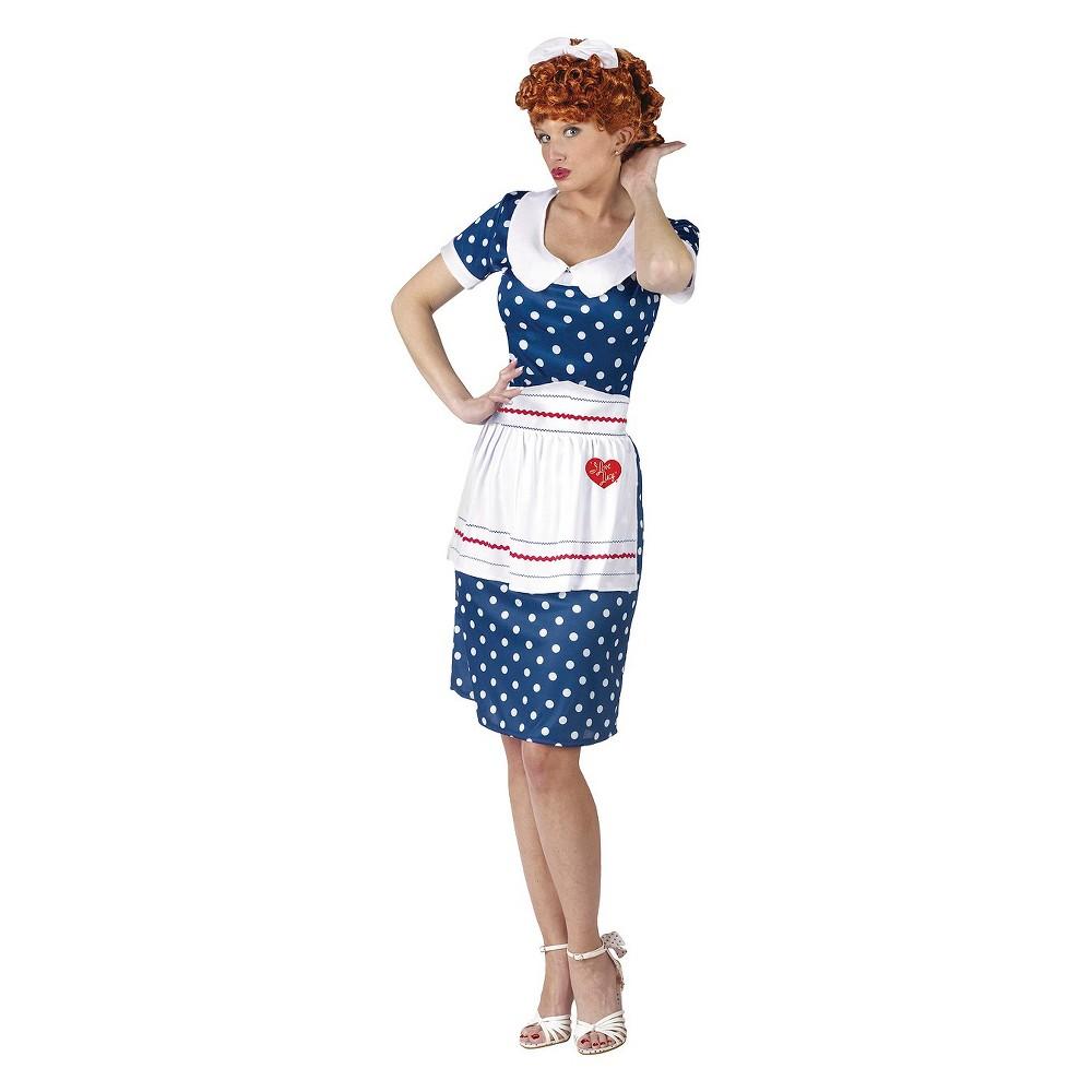 Women's I Love Lucy Sassy Costume (S/M), Blue