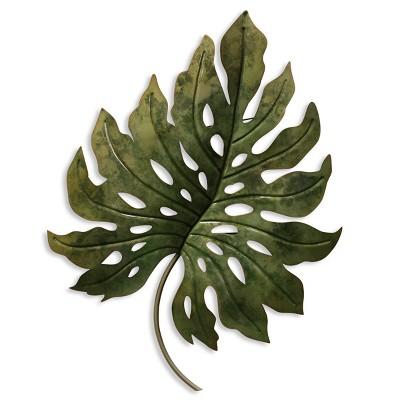 26  Metal Leaf Decorative Wall Art Green - StyleCraft