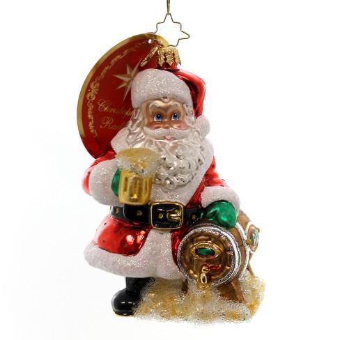 Christopher Radko Hoppy Holidays To You Ornament Beer Keg Santa Tree Ornaments Target