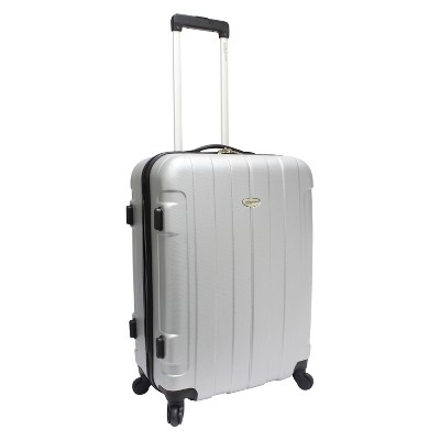 """Traveler's Choice Rome 25"""" Spinner Suitcase - Silver"""