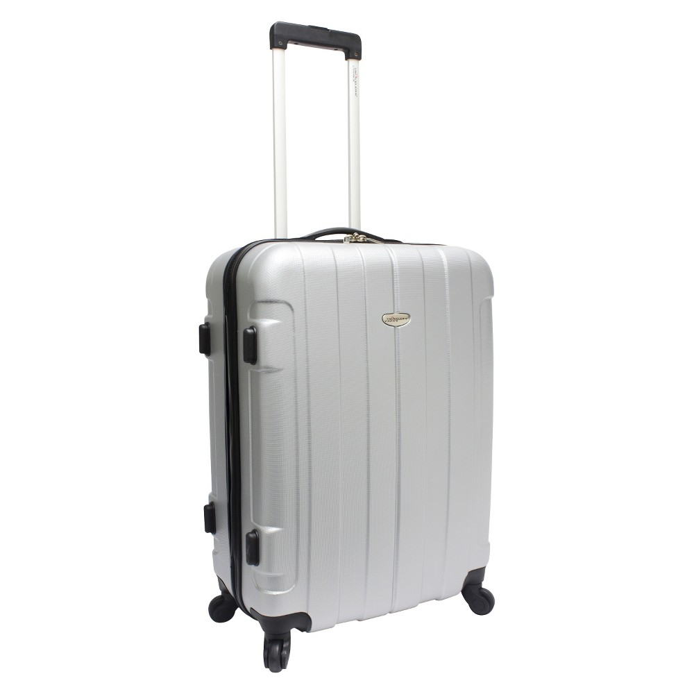 Traveler 39 S Choice Rome 25 34 Spinner Suitcase Silver