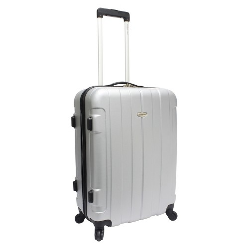 'Traveler's Choice Rome 25'' Suitcase - Silver, Size: Small'