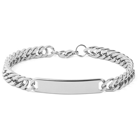 Men's West Coast Jewelry Stainless Steel 8.5-Inch Curb Link Chain ID Bracelet - image 1 of 1