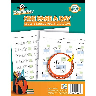 Channie's One Page A Day Single Digit Beginning Division