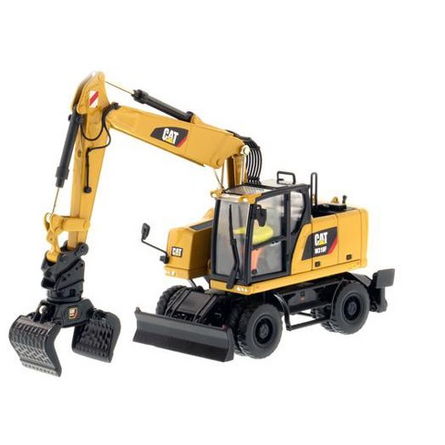 "CAT Caterpillar M318F Wheeled Excavator with Operator ""High Line Series"" 1/50 Diecast Model by Diecast Masters - image 1 of 3"