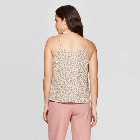a7b02edf8e Women's Leopard Print Sleeveless V-Neck Tank Top - A New Day™ Tan ...