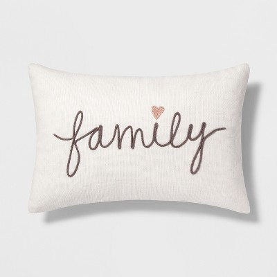Family' Lumbar Throw Pillow Cream - Threshold™