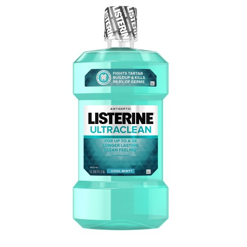 Listerine® Ultraclean™ Cool Mint® Antiseptic Mouthwash Oral Care - 1.5 L - image 1 of 8