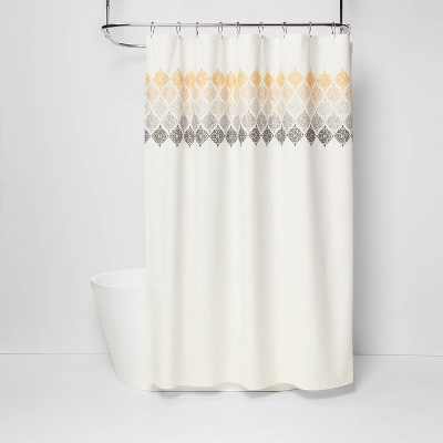 Medallion Shower Curtain Ombré White - Threshold™
