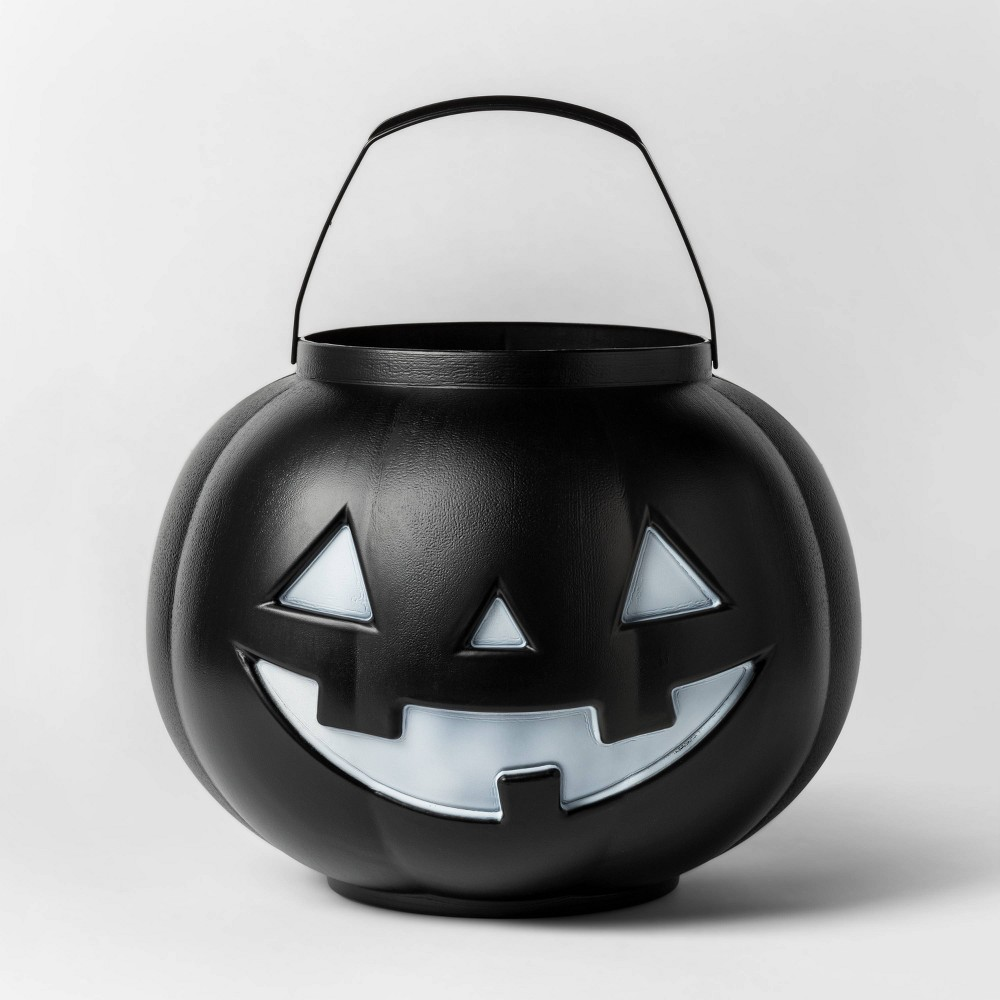 Image of Halloween Pumpkin Pail with Handle Black - Hyde & EEK! Boutique , Size: Small