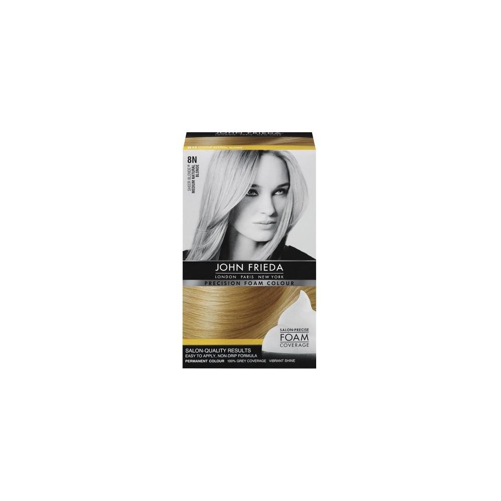 Image of John Frieda Precision Foam Colour - Natural Blonde, 8N Medium Natural Yellow
