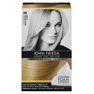 John Frieda Precision Foam Colour - Natural Blonde, 8N Medium Natural Yellow