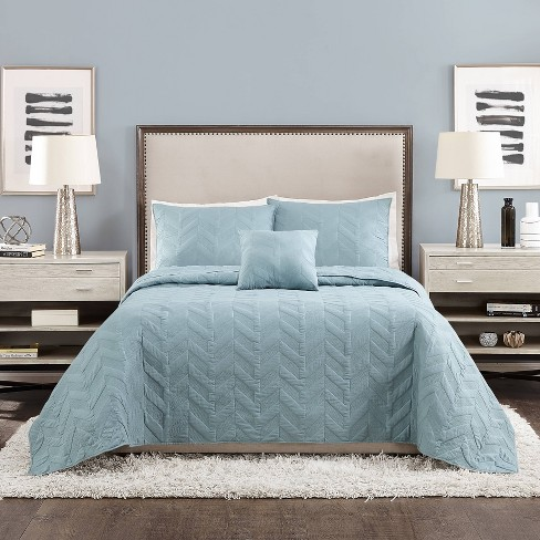 Texture Chevron Coverlet Set - Ayesha Curry - image 1 of 4