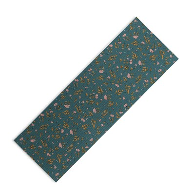 """The Optimist I Can See The Change Flora (6mm) 24"""" x 70"""" Yoga Mat - Society6"""