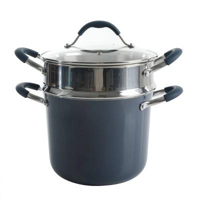 Cravings by Chrissy Teigen 6qt Aluminum Stock Pot with Stainless Steel Steamer Insert