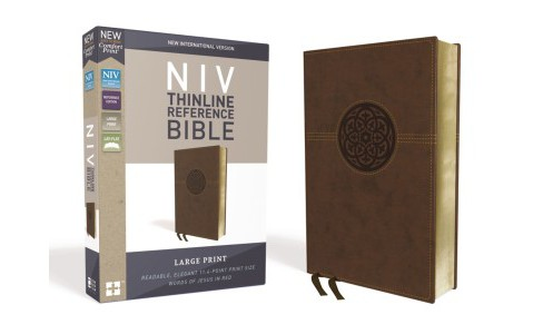 Holy Bible : New International Version, Thinline Reference Bible, Brown, Imitation Leather, Red Letter - image 1 of 1
