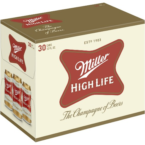 Miller High Life® Beer - 30pk / 12oz Cans - image 1 of 3