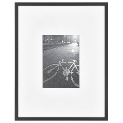 11  x 14  Matted For 5  x 7  Photo Thin Gallery Frame Black - Project 62™