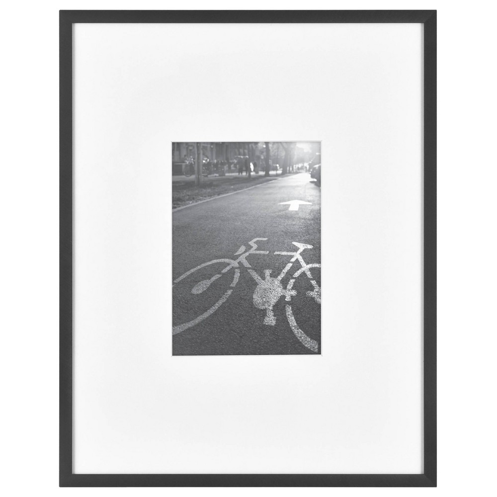 "Image of ""11"""" x 14"""" Matted For 5"""" x 7"""" Photo Thin Gallery Frame Black - Project 62"""