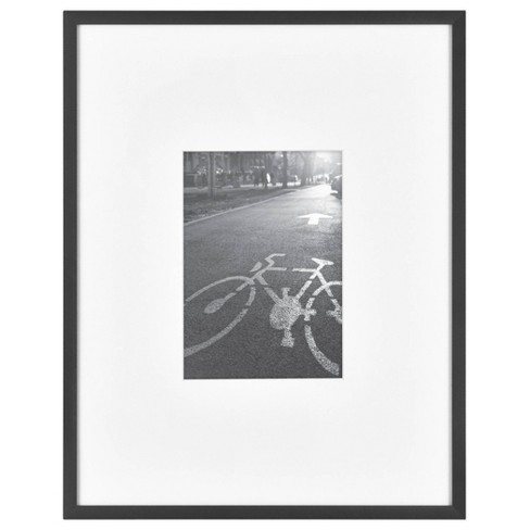 Thin Gallery Matted Photo Frame Black - Project 62™ - image 1 of 4