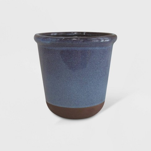 Dual Reactive Glaze Planter Blue - Threshold™ - image 1 of 2