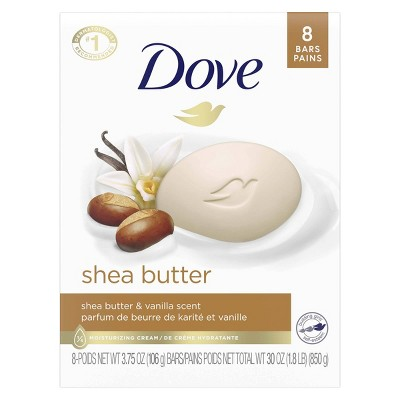 Dove Purely Pampering Shea Butter with Warm Vanilla Beauty Bar Soap - 8pk - 3.75oz each
