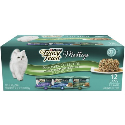 Purina Fancy Feast Medleys Gourmet Wet Cat Food In a Classic Sauce Primavera Collection - 3oz/12ct Variety Pack