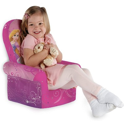 Marshmallow Furniture Comfy Foam Toddler Chair Kid's Furniture For Ages 2 Years Old And Up, Disney Princess Themed : Target
