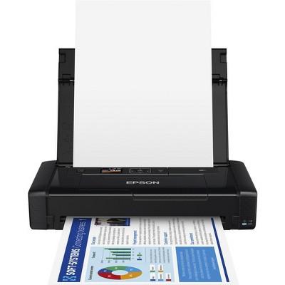 Epson WorkForce WF-110 Inkjet Printer - Color - 14 ppm Mono / 11 ppm Color - 5760 x 1440 dpi Print - 20 Sheets Input - Wireless LAN