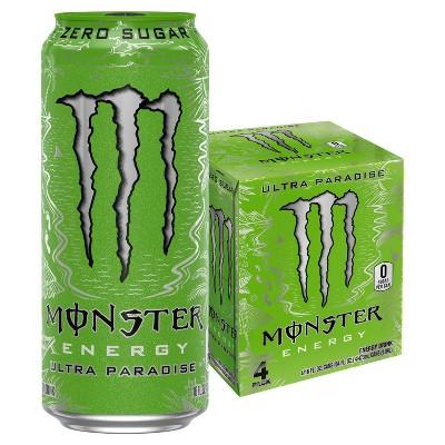 Monster Energy Ultra Paradise - 4pk/16 fl oz Cans