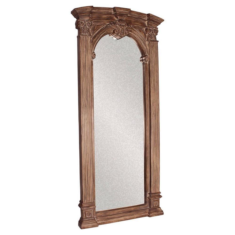 Image of Rectangle Bonjour Floor Mirror Brown - Howard Elliott