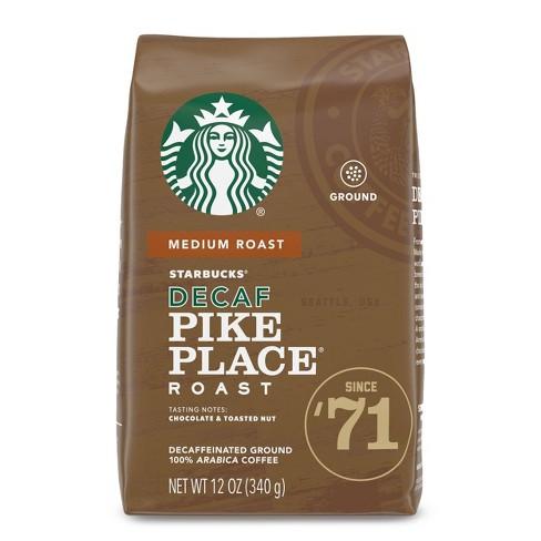 Starbucks Decaf Pike Place Roast Medium Roast Ground Coffee - 12oz - image 1 of 4