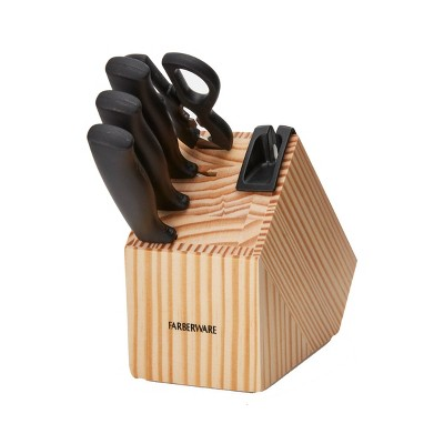 Farberware Edgekeeper 5 Piece Knife Block Set with Built In Sharpener