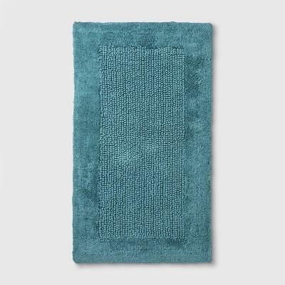 "34""x20"" Performance Textured Bath Rug Turquoise - Threshold™"
