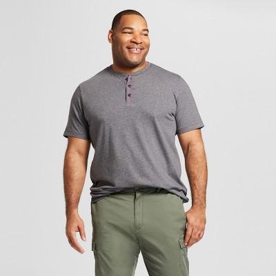 Men's Big & Tall Standard Fit Short Sleeve Henley T-Shirt - Goodfellow & Co™