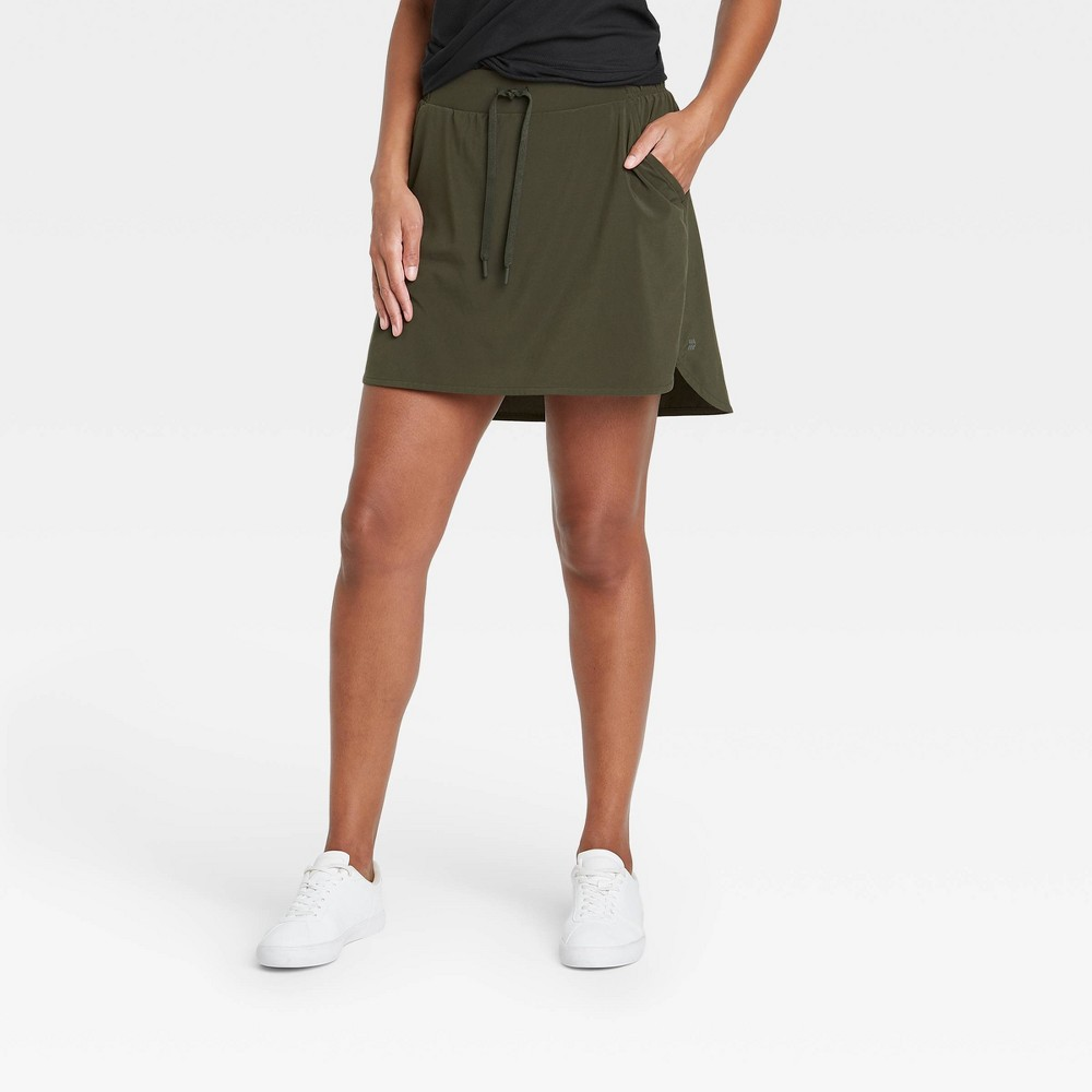 Women 39 S Stretch Woven Skorts 18 5 34 All In Motion 8482 Olive Green Xl