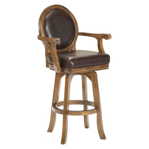 "30"" Warrington Swivel Barstool Wood/Cherry - Hillsdale Furniture - image 1 of 1"