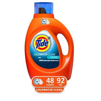 Tide Coldwater Clean High Efficiency Liquid Laundry Detergent - 92 fl oz