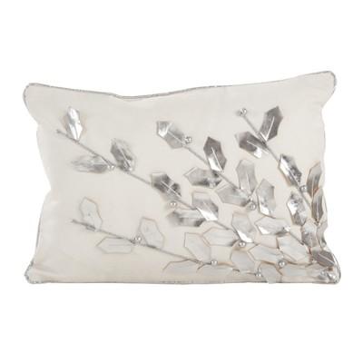 Throw Pillow Saro Lifestyle Soft Silver