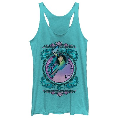 Women's Mulan Stained Glass Racerback Tank Top