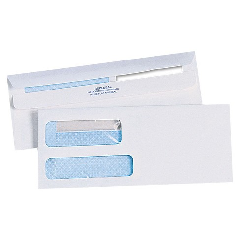 Quality Park Redi-Seal Double Window Envelopes, #10 - image 1 of 1